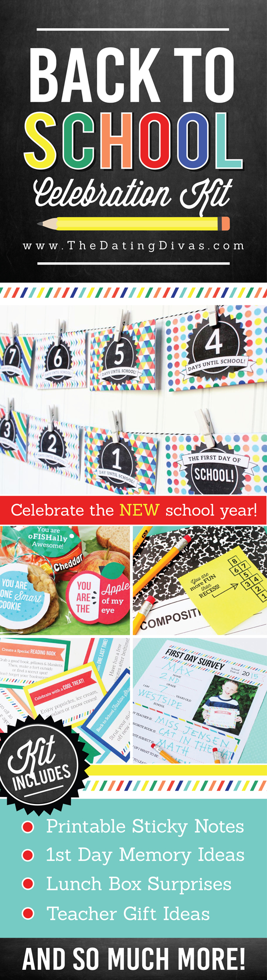 Back to School Celebration Printable Kit - Make going back to school FUN!