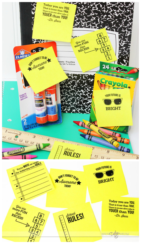 Back to School Printable Post-It Notes