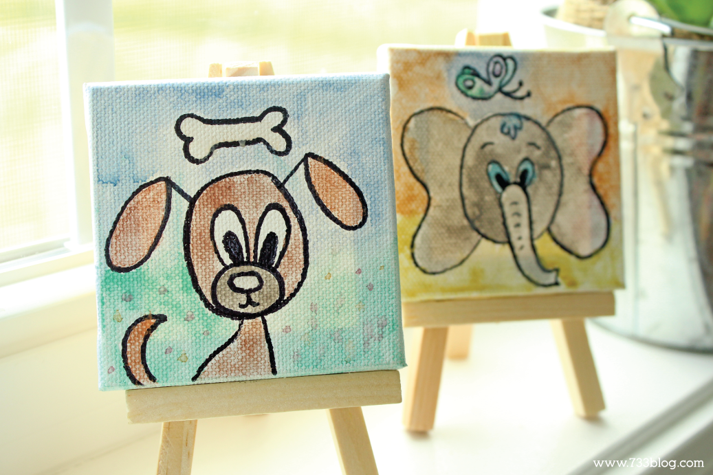 DIY Mini Canvas Art Kits For Kids Are Inexpensive Gift Ideas Theyd Also