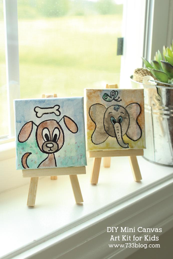 DIY Mini Canvas Art Kits for Kids