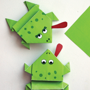 Printable Origami Frogs