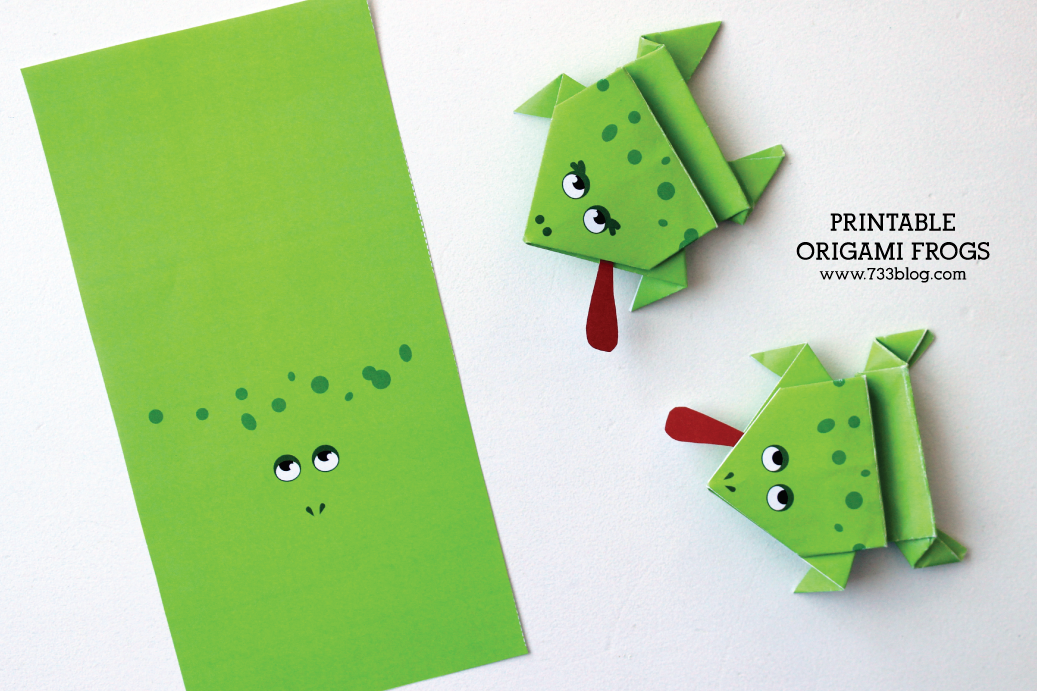 Printable Origami Frogs - Inspiration Made Simple
