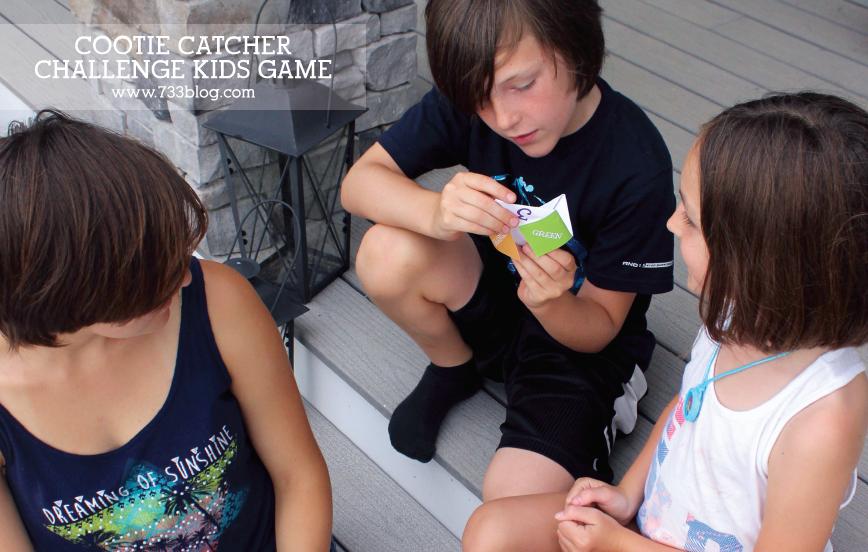 Cootie Catcher Challenge Printable Kids Game