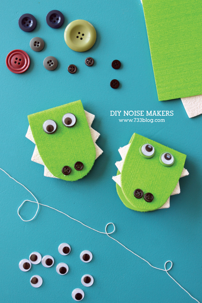 DIY Alligator Noise Maker Kids Craft