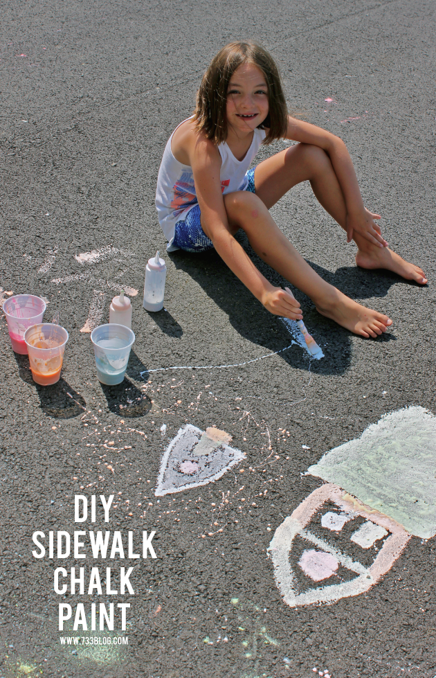 Simple DIY Sidewalk Chalk Paint Recipe