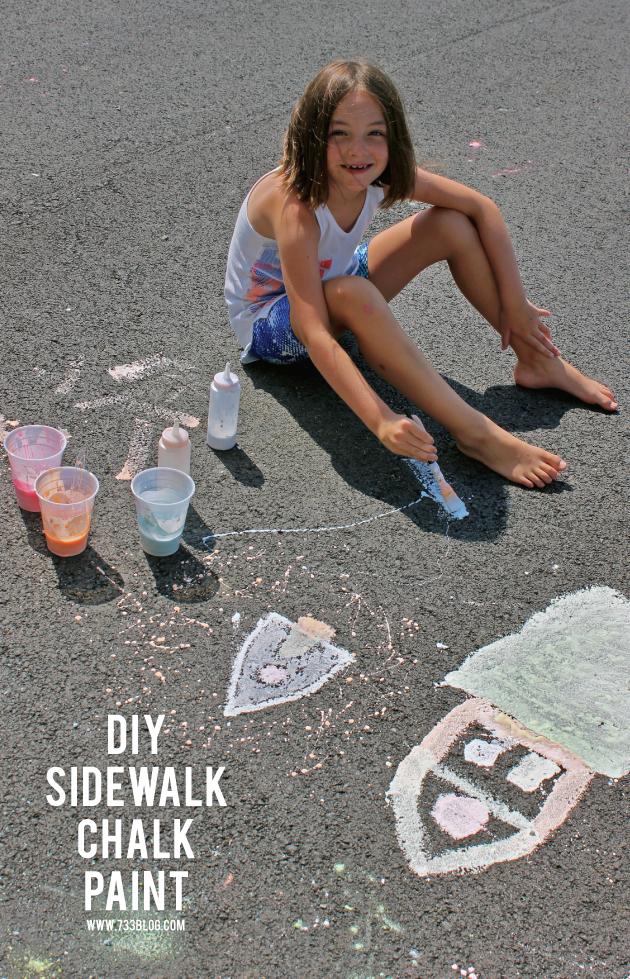 Simple DIY Sidewalk Chalk Paint Recipe