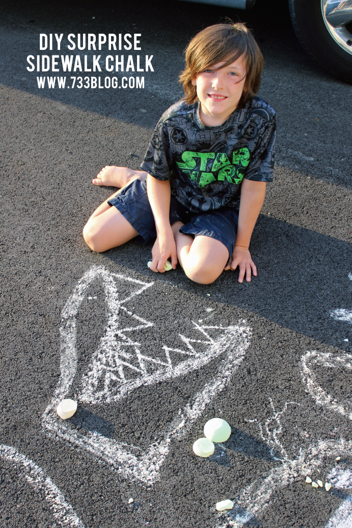 DIY SIdewalk Chalk with a Mini Surprise inside! So much fun!