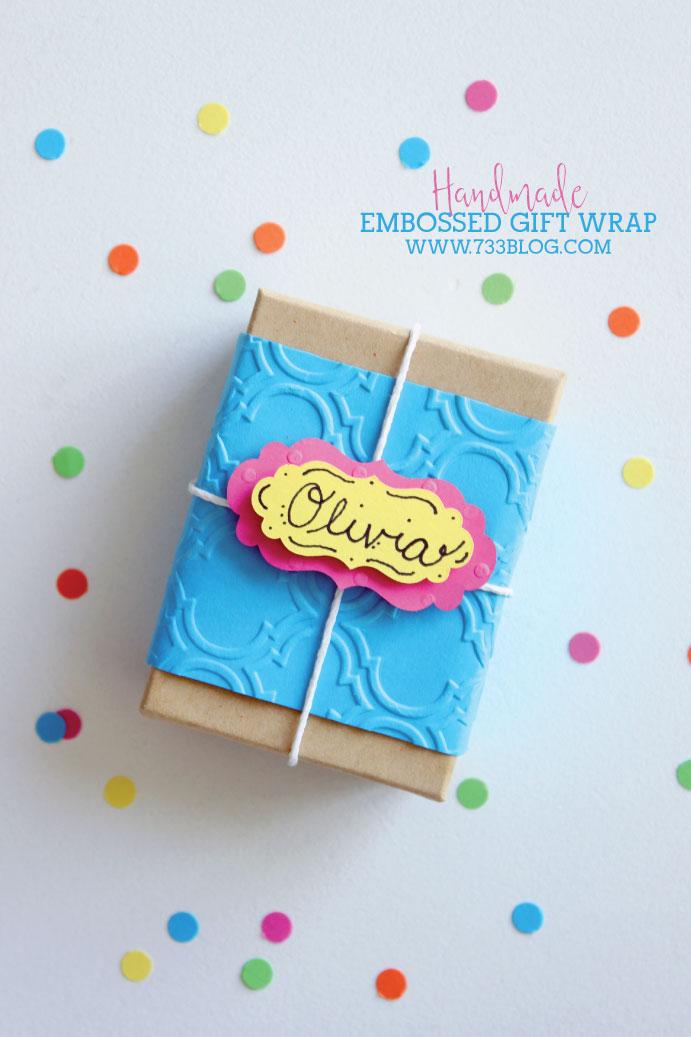 Handmade Embossed Gift Wrap