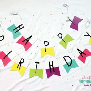Rainbow Birthday Banner and Printable Pack