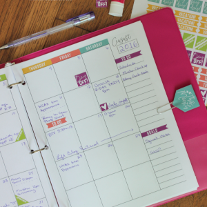 Printable Monthly Planner and Stickers