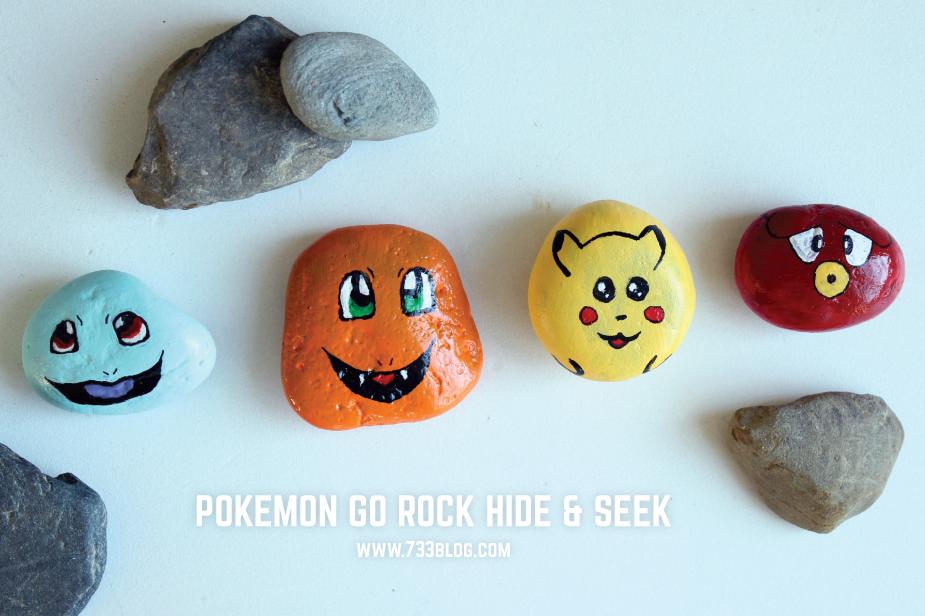 Pokemon Go Rock Hide and Seek Kids Game