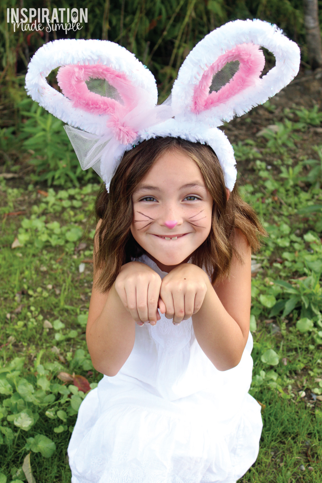 DIY Pipe Cleaner Bunny Ears Kids Craft