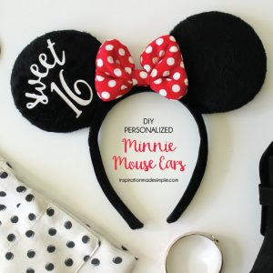 Personalized Minnie Mouse Ears