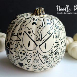 Halloween Doodle Pumpkin