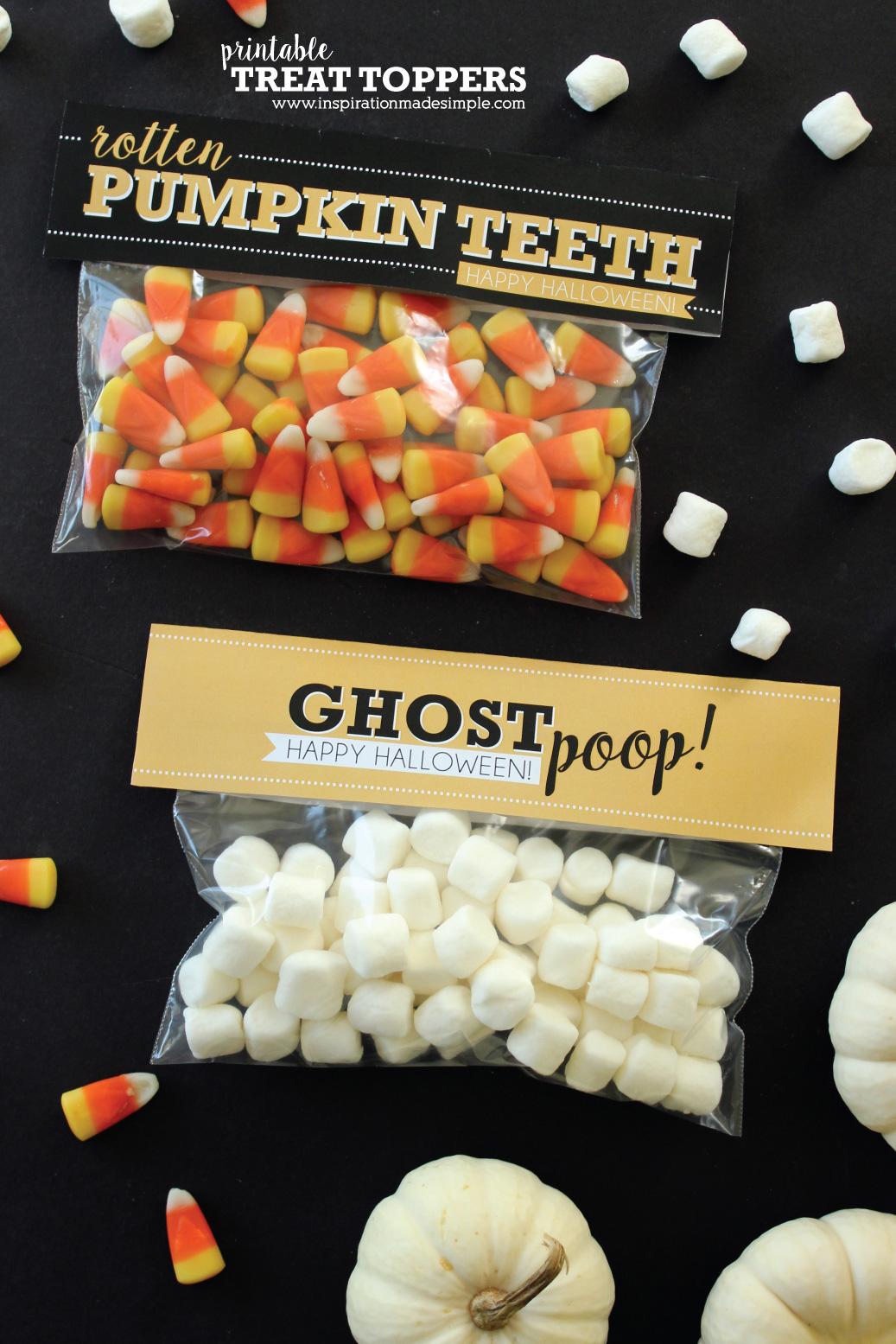 Free Printable Halloween Treat Bag Toppers