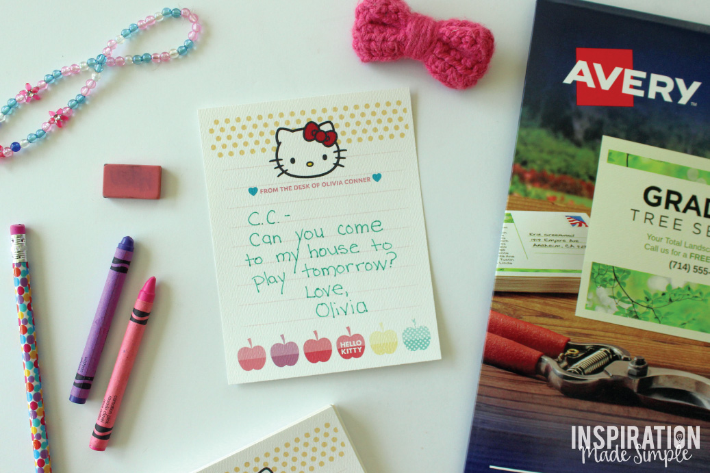 DIY Hello Kitty Notepad with Avery Design and Print