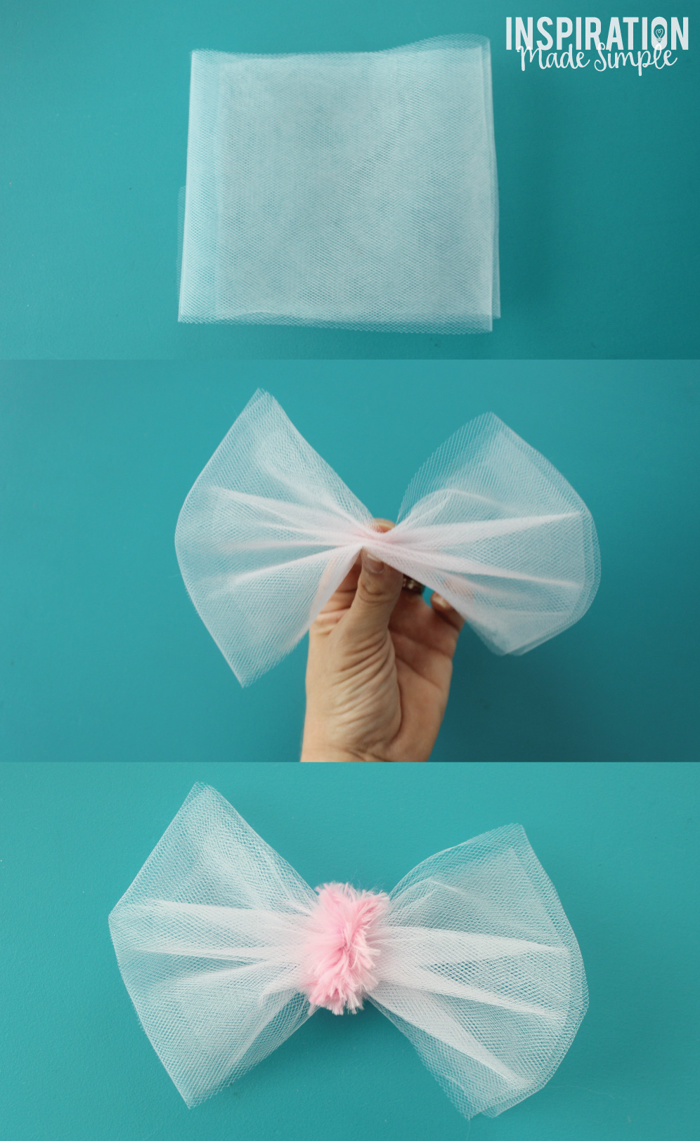 Easy DIY Tulle Bow