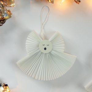 Accordion Fabric Angel Ornaments