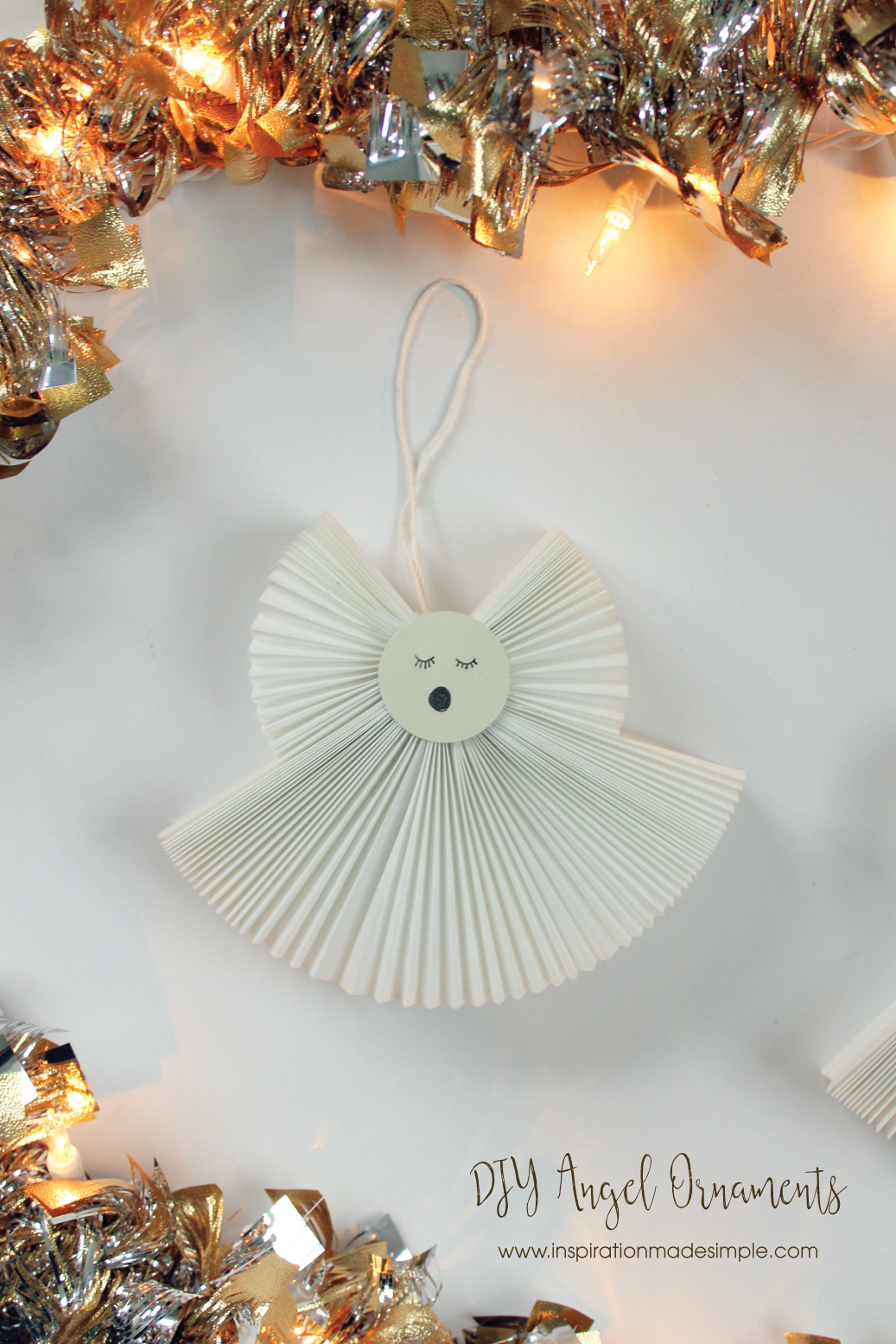 Accordion Fabric Angel Ornaments