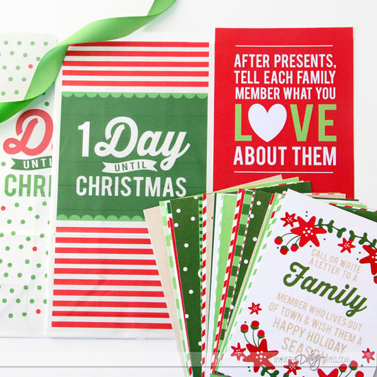 Printable Family Christmas Countdown Bundle