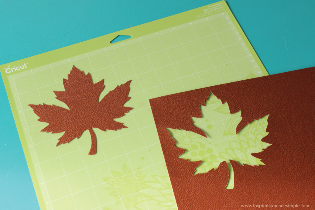 Simple DIY Leather Leaf Place Setting Card