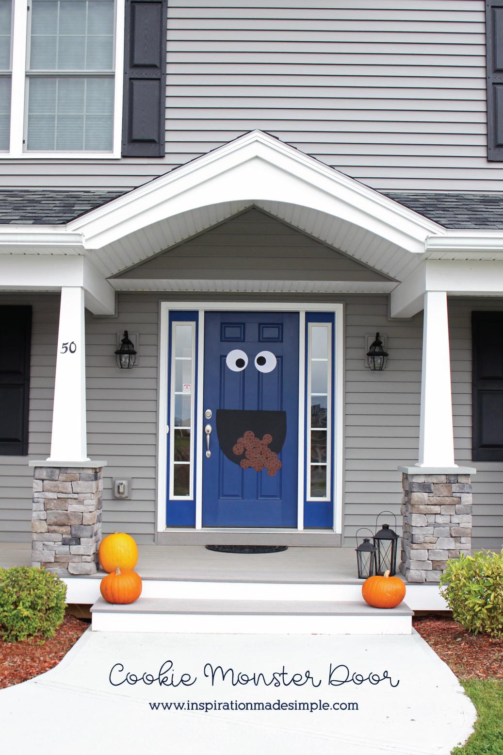 DIY Halloween Cookie Monster Door