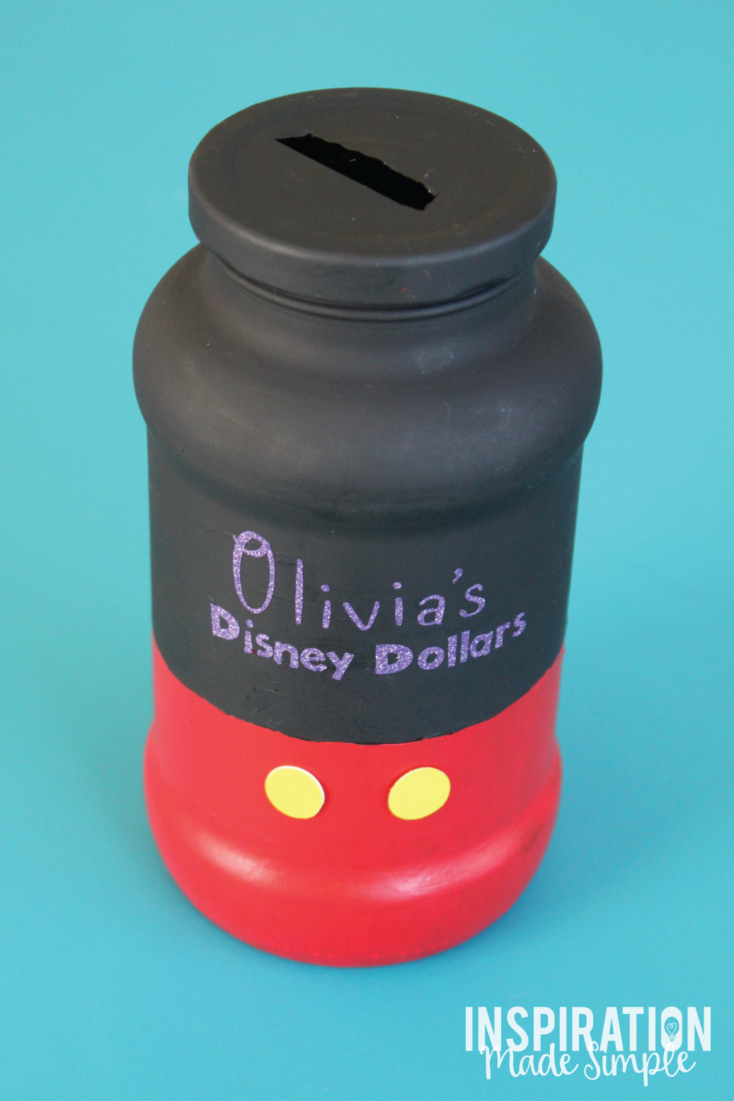DIY Mickey Mouse Disney Savings Jar