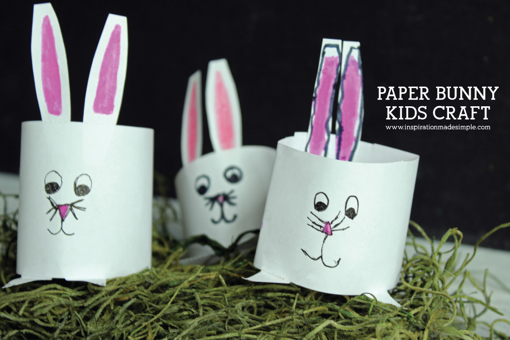 Paper Bunny Kids Craft