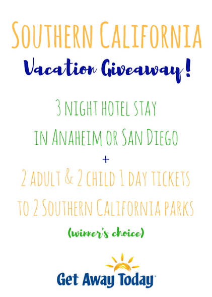 Southern California Amusement Park Trip Giveaway from Get Away Today