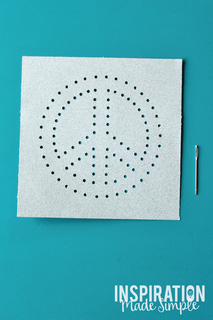 Easy Kids Stitched String Art