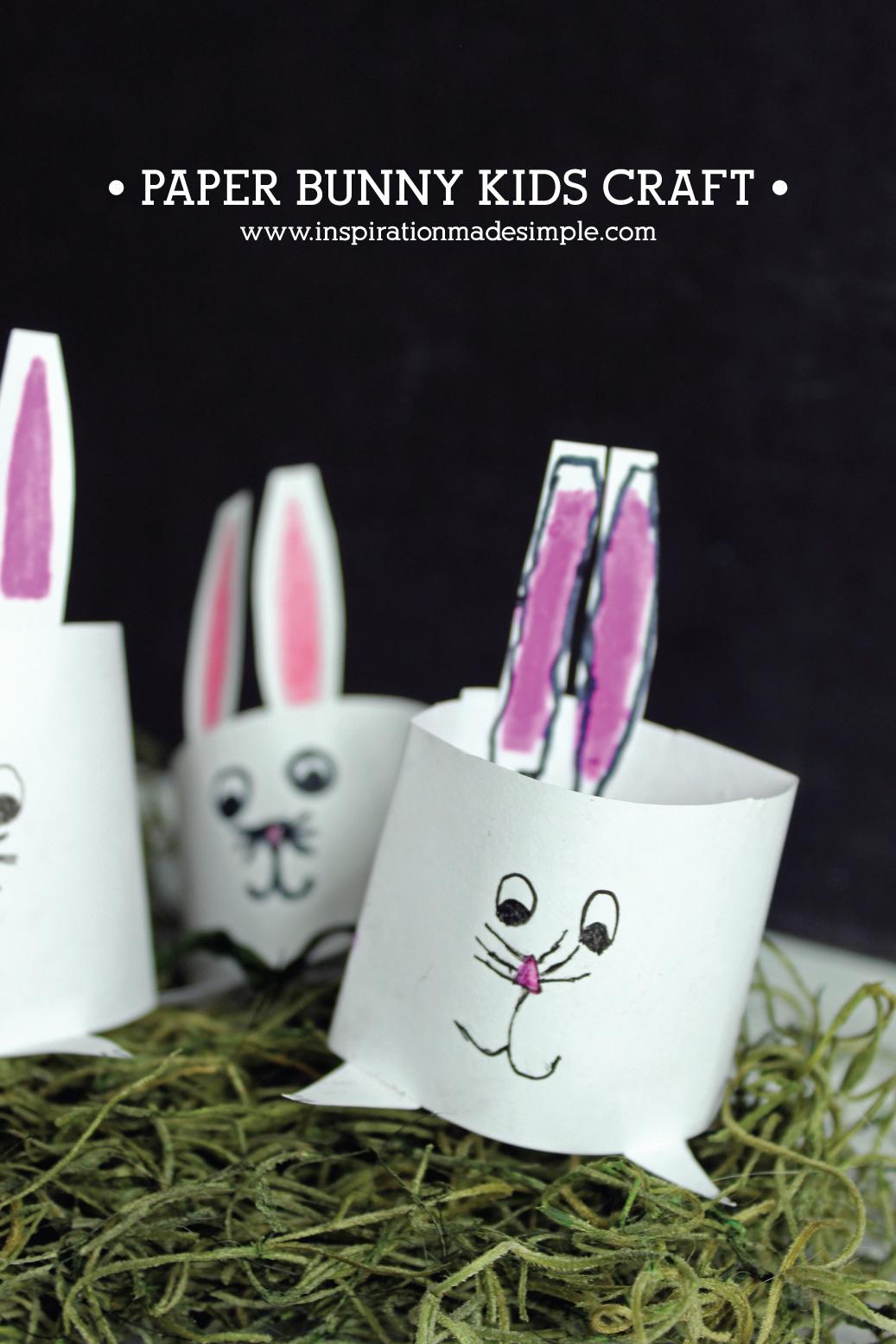 DIY Paper Bunny Kids Craft Tutorial
