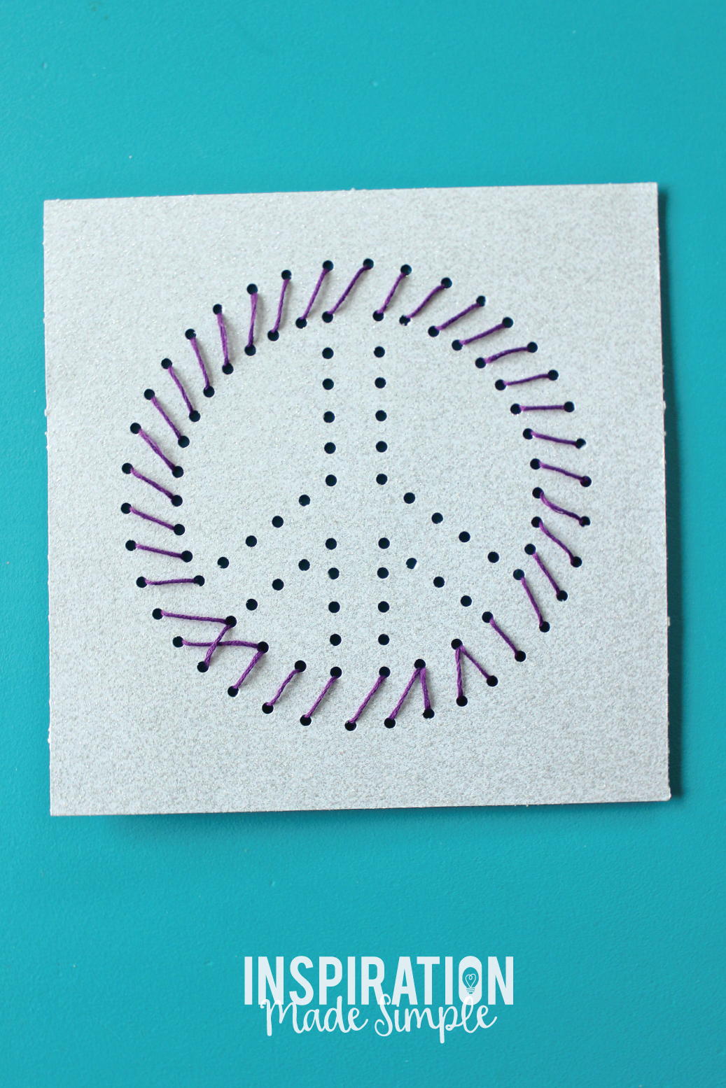 Easy Kids Stitched String Art