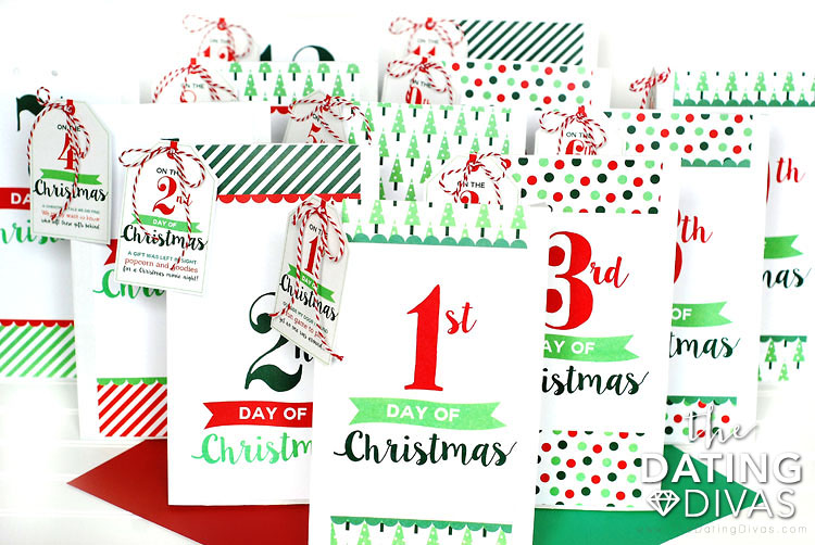 image relating to 12 Days of Christmas Printable referred to as 12 Times of Xmas Printable Services Concept - Determination