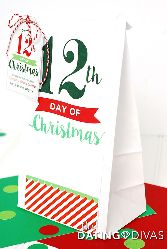 12 Days of Christmas Bag Tags