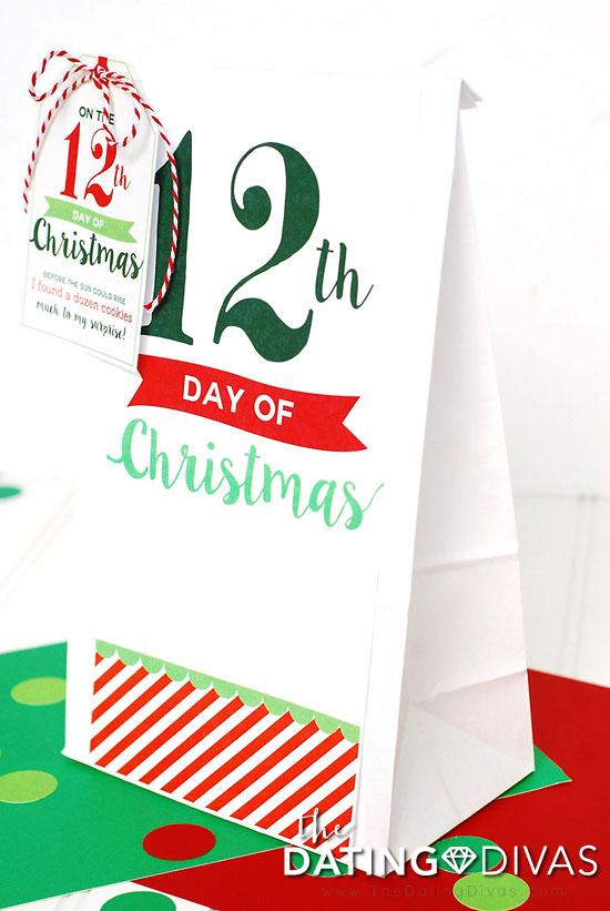12 Days of Christmas Bag Tags