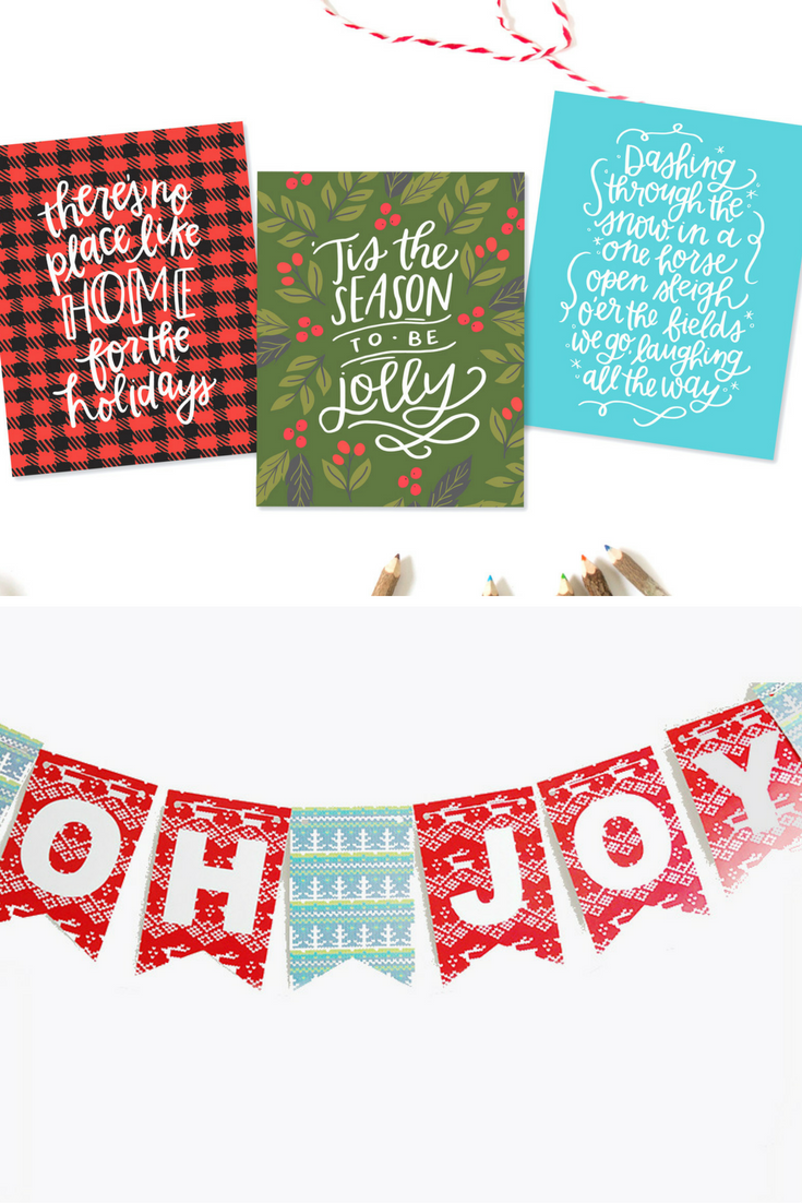 Christmas Gift Tags and Banner