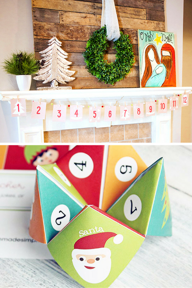 Printable Christmas Cootie Catcher