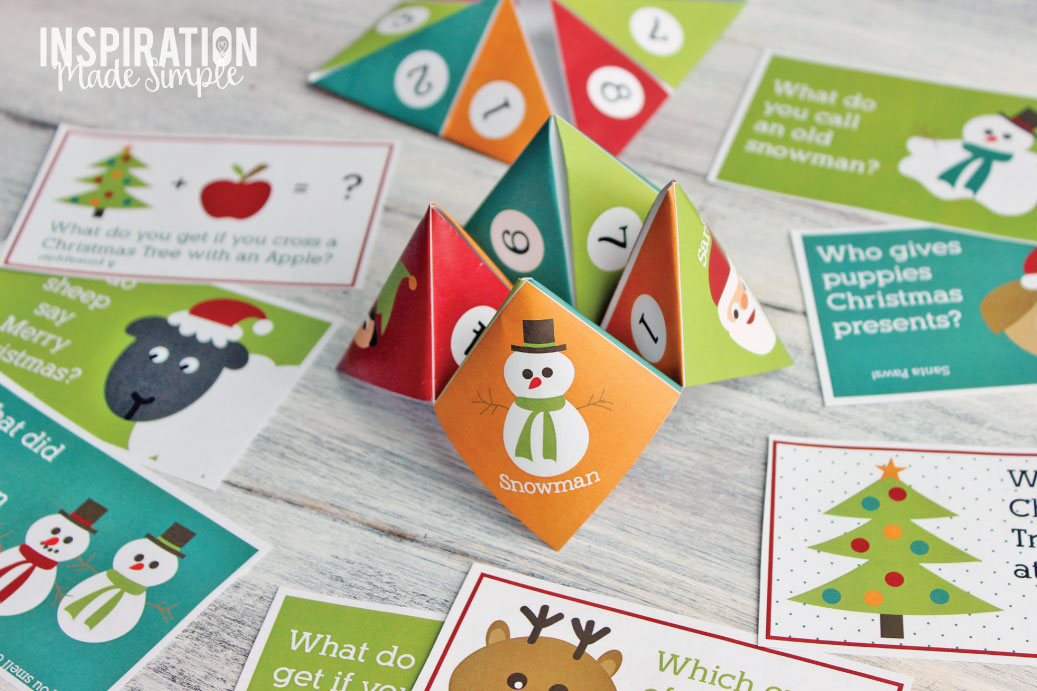 picture regarding Cootie Catcher Printable identify Printable Xmas Cootie Catcher - Motivation Intended Basic