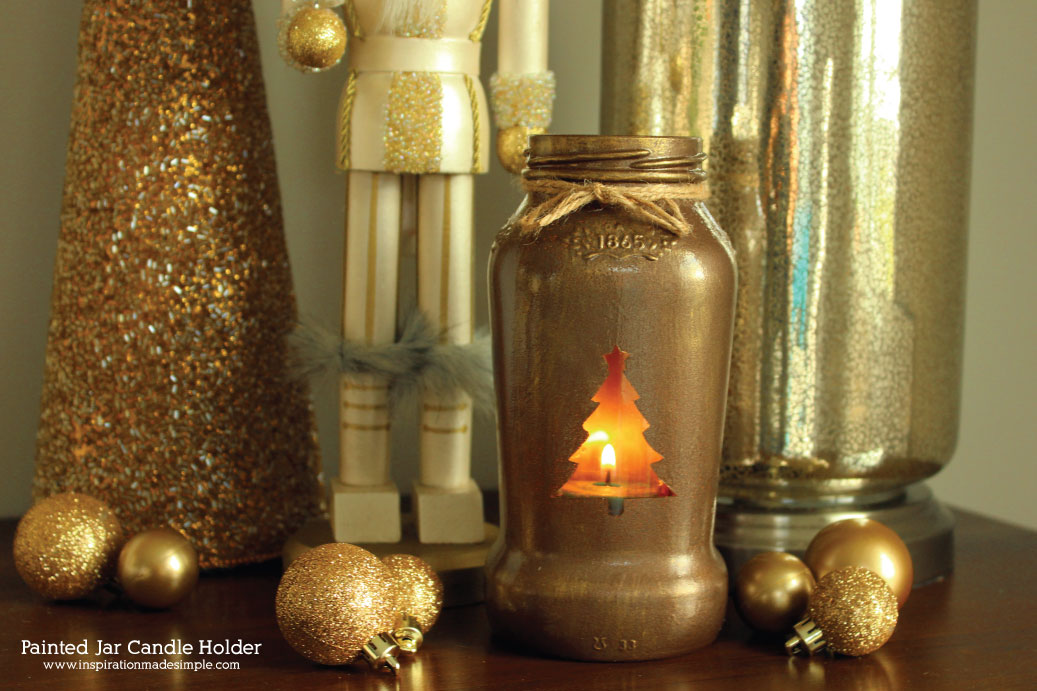 Christmas Tree Jar Candle Holder