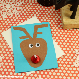 Reindeer Kisses DIY Holiday Card