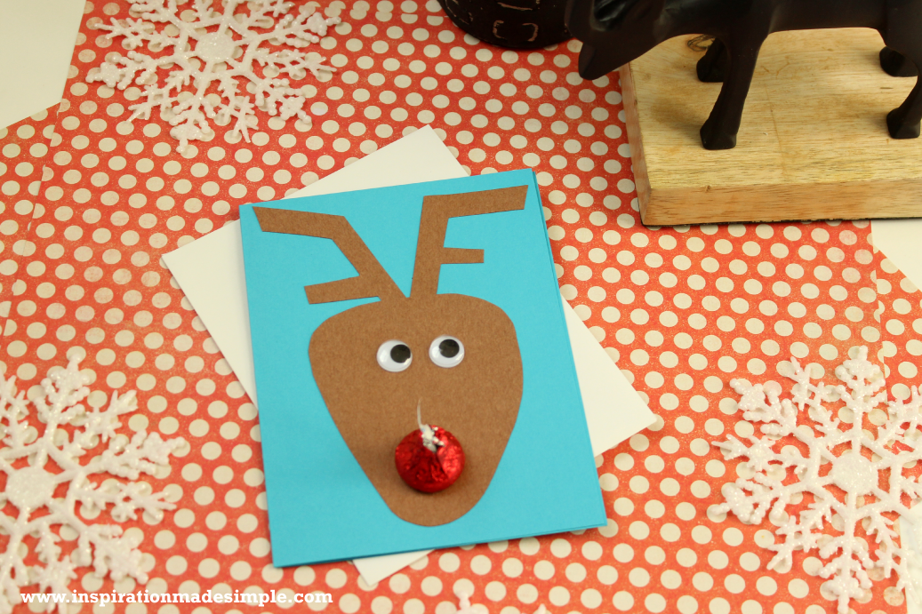 DIY Reindeer Nose Card