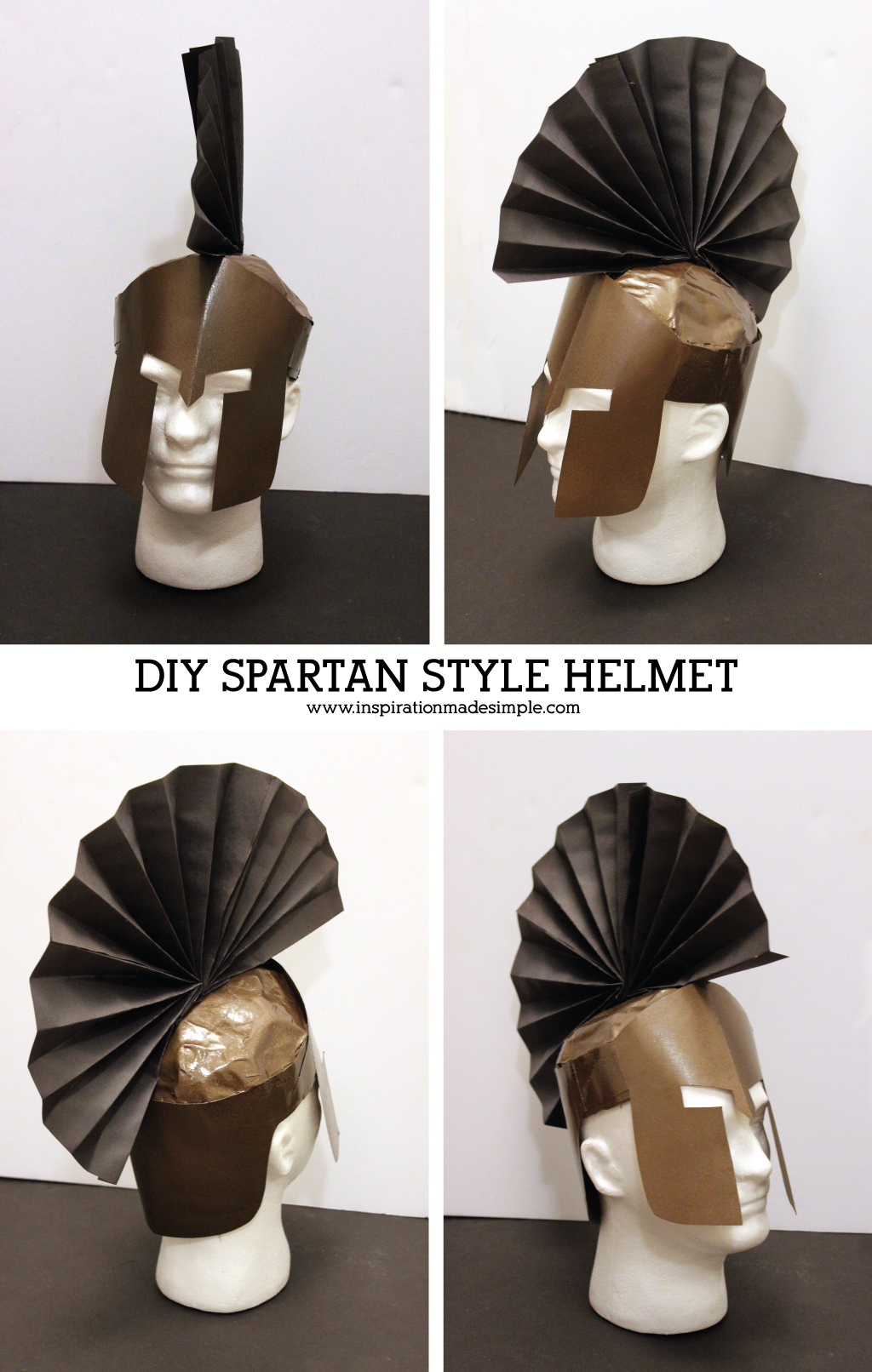 DIY Ares Greek Mythology Costume with Spartan Style Helmet & DIY Ares Greek Mythology Costume - Inspiration Made Simple