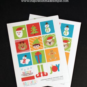 DIY Printable Christmas Memory Matching Game - fun activity for kids!