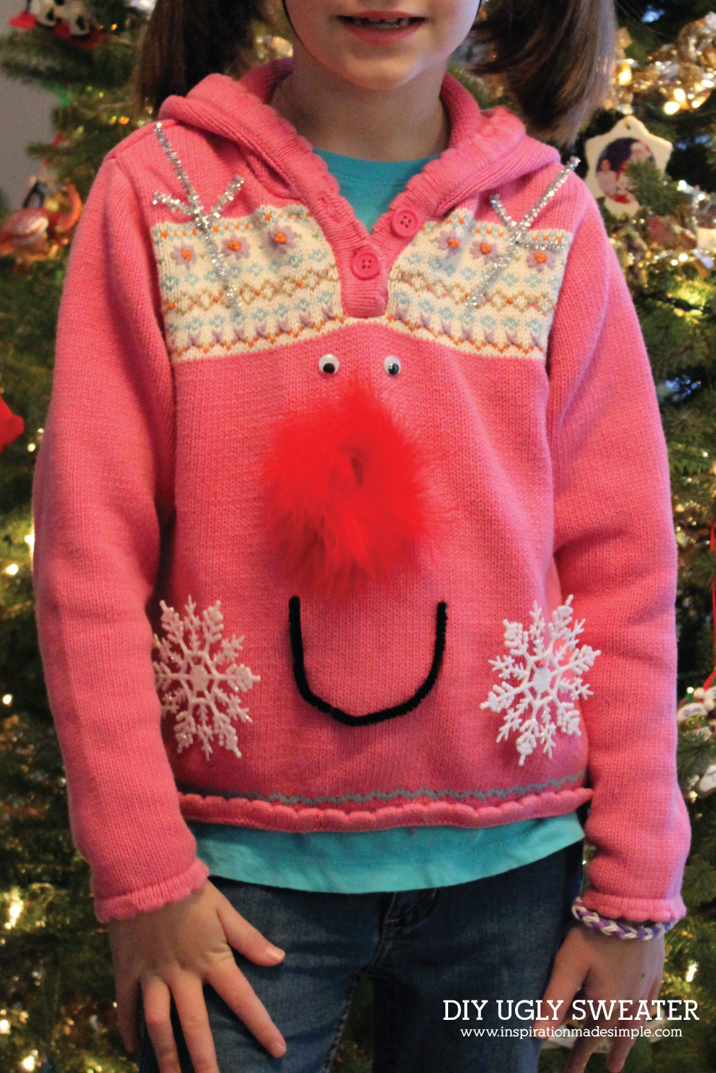 DIY Rudolph Ugly Sweater