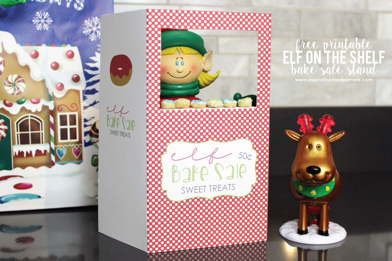 Printable Elf Bake Sale Stand