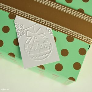 Simple and Classic DIY Embossed Gift Tags