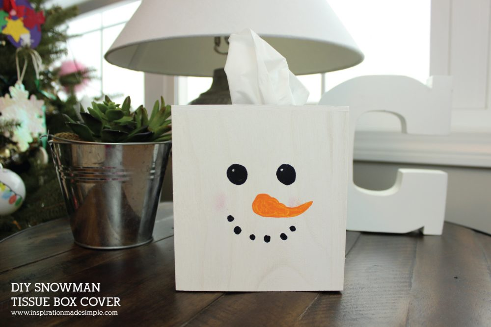Snowman Tissue Box Cover Kids Craft Inspiration Made Simple