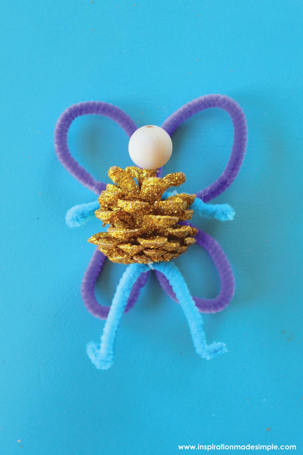 DIY Pinecone Fairy Kids Craft