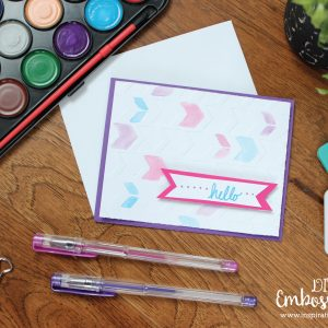 DIY Watercolor Embossed Greeting Card