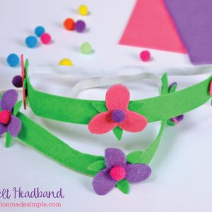 Poppy Inspired No Sew Felt Headband